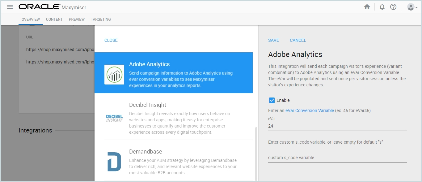 Enable Adobe Analytics Integration | Free Oracle Cloud