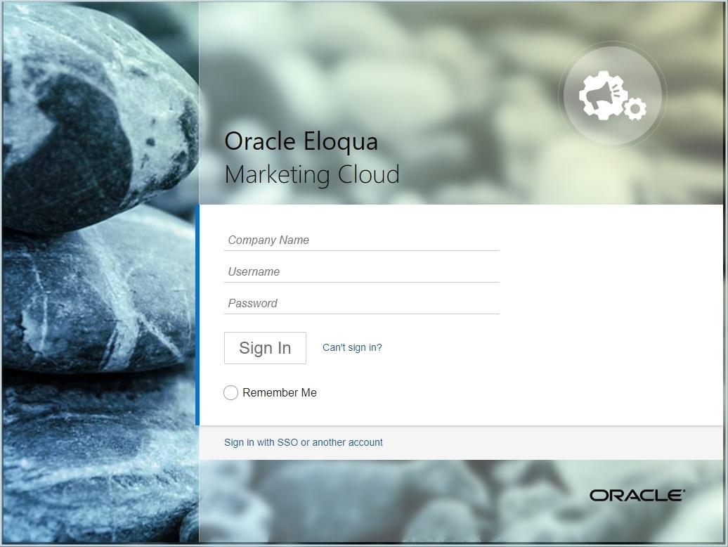 Login To Oracle Eloqua Topic Marketing